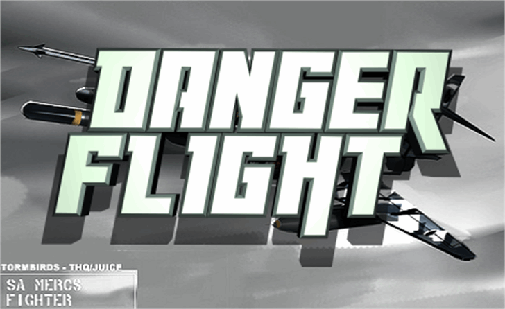Danger Flight Font screenshot design