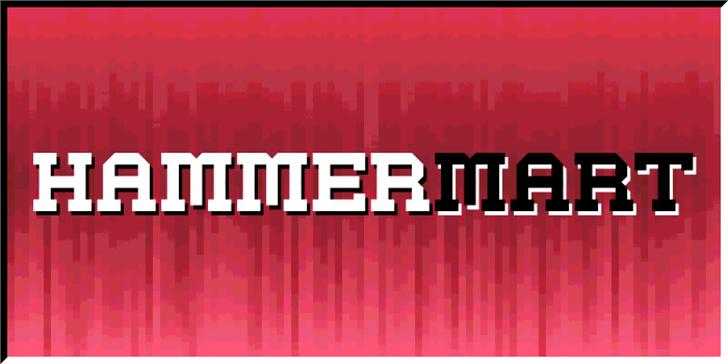 Hammermart Font screenshot poster
