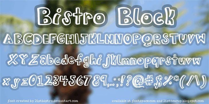 BistroBlock Font screenshot text