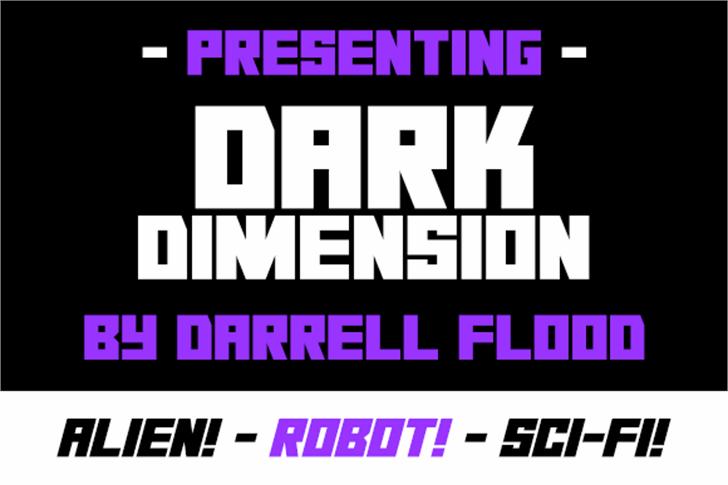 Dark Dimension Font poster screenshot