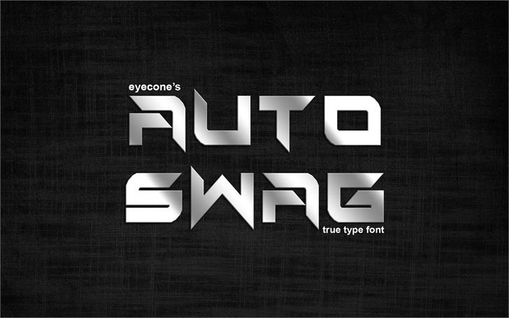 Auto Swag Font screenshot design