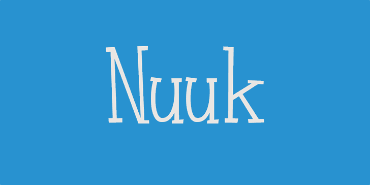 Nuuk DEMO Font design typography