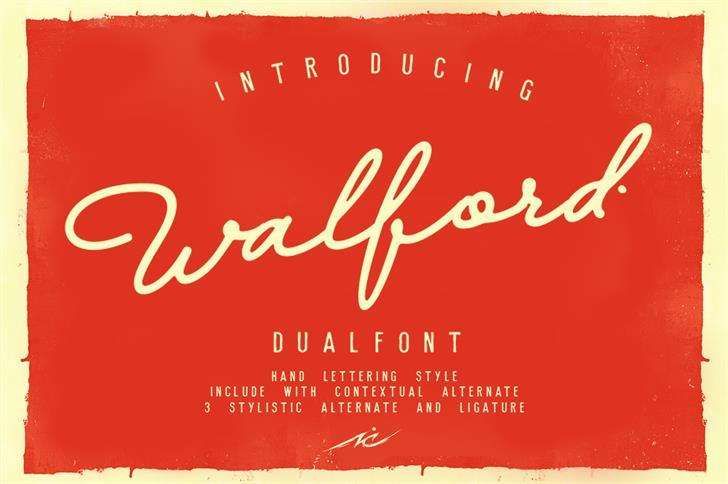 Walfords Font design text