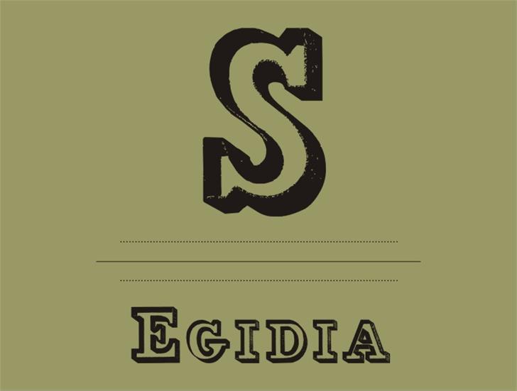 Egidia Font design graphic