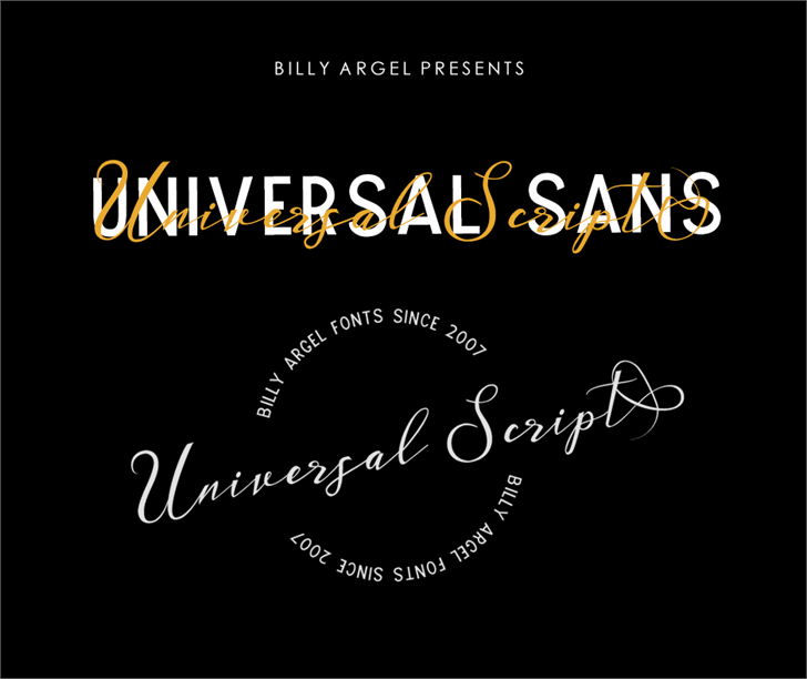 UNIVERSAL SANS PERSONAL USE Font design text