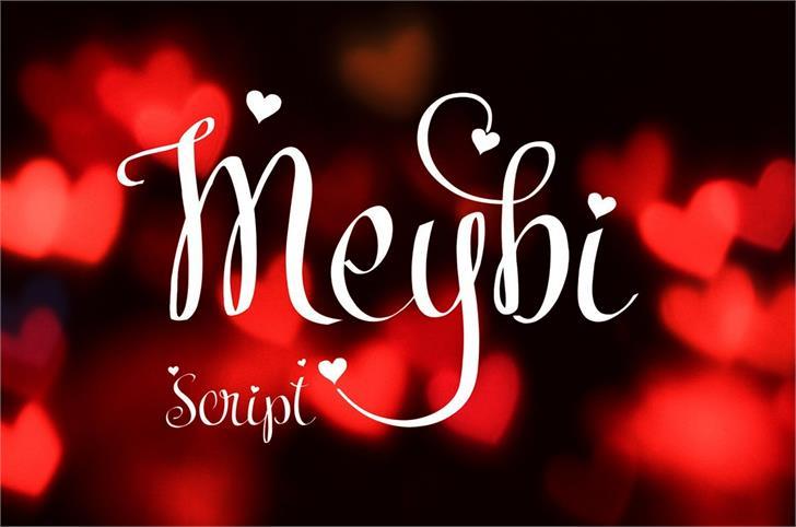 Meybi Font design text