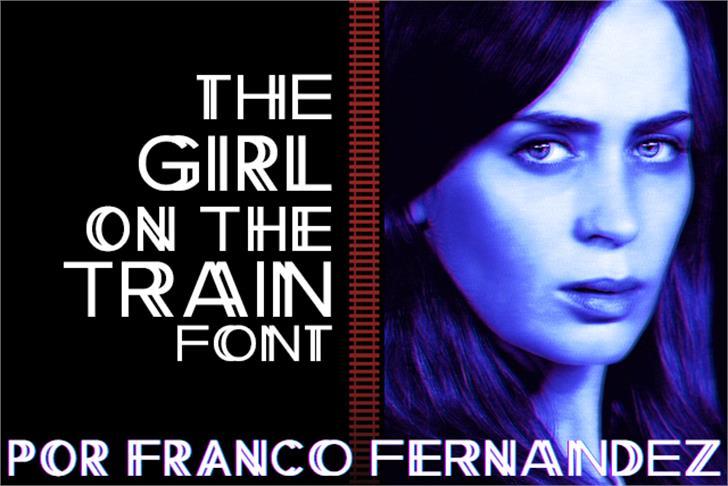 The Girl on the Train Font screenshot human face