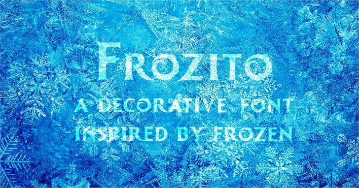 Frozito font by JoannaVu