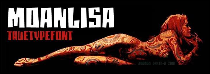 moanLisa font by JOEBOB graphics