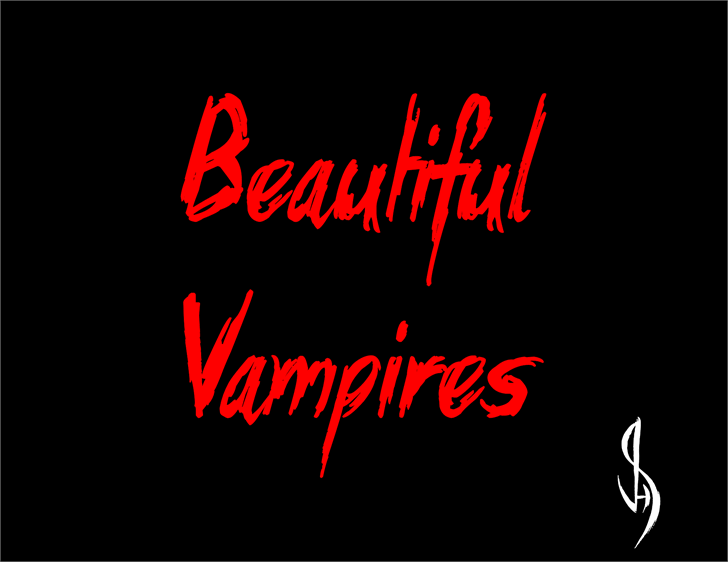 Beautiful Vampires Font graphic design