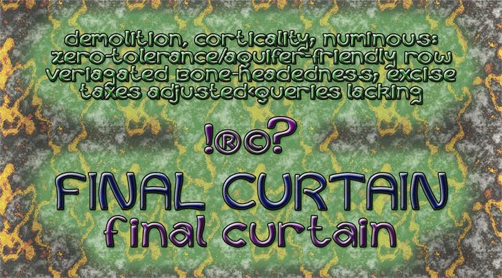 Curtains Final Font screenshot text
