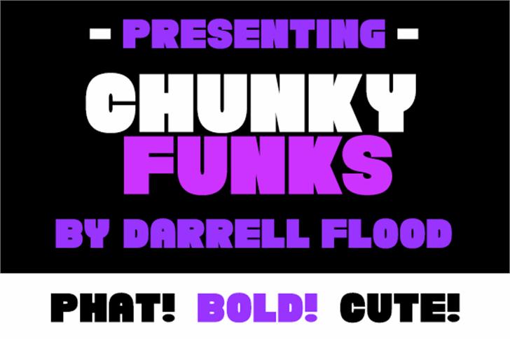Chunky Funks Font screenshot poster