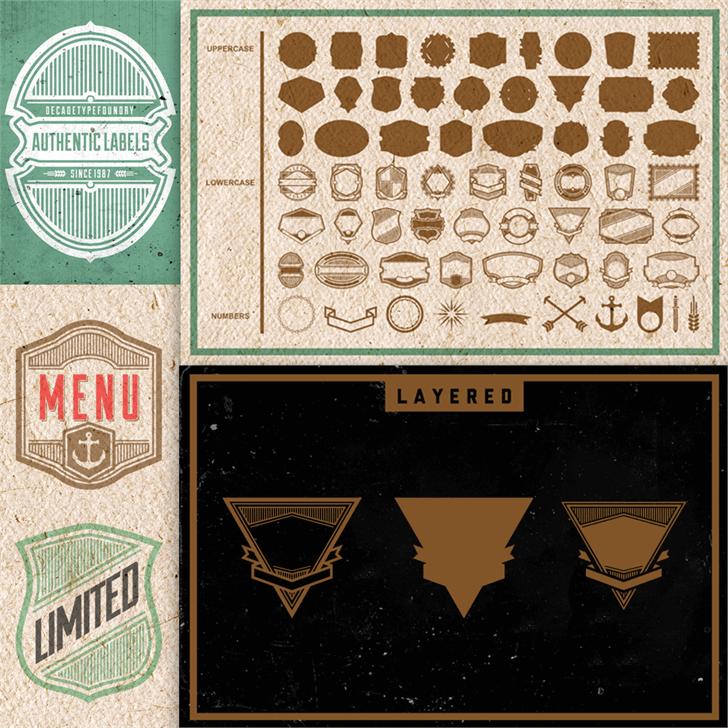 Authentic Labels Demo Font illustration design