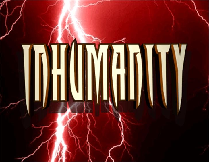 Inhumanity Font fireworks lightning