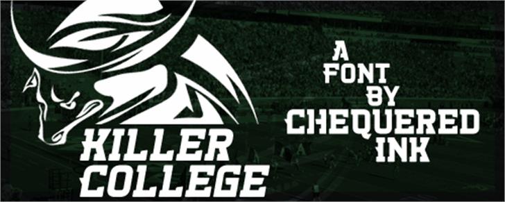 Killer College Font screenshot outdoor