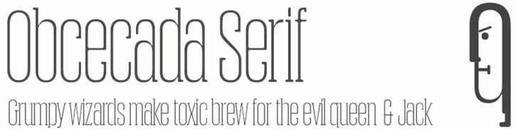 Obcecada Serif Font design typography
