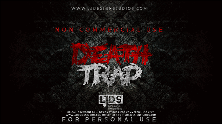 Deathtrap DEMO Font screenshot poster