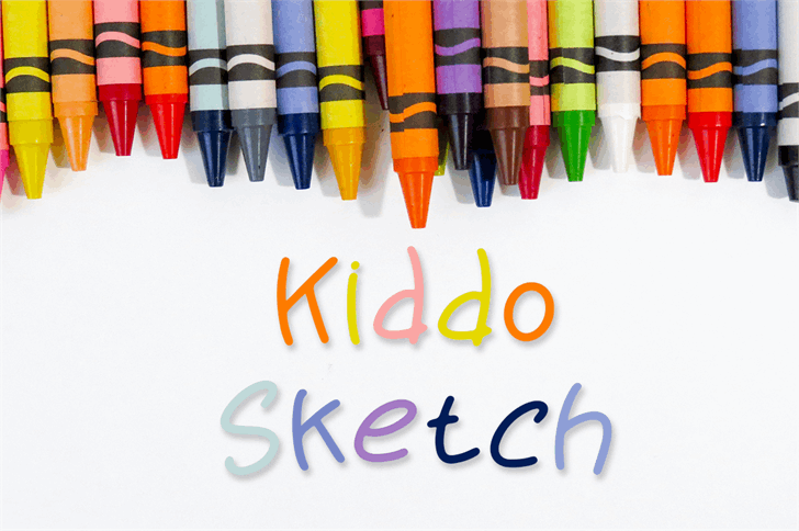 Kiddo Sketch Font writing implement stationary