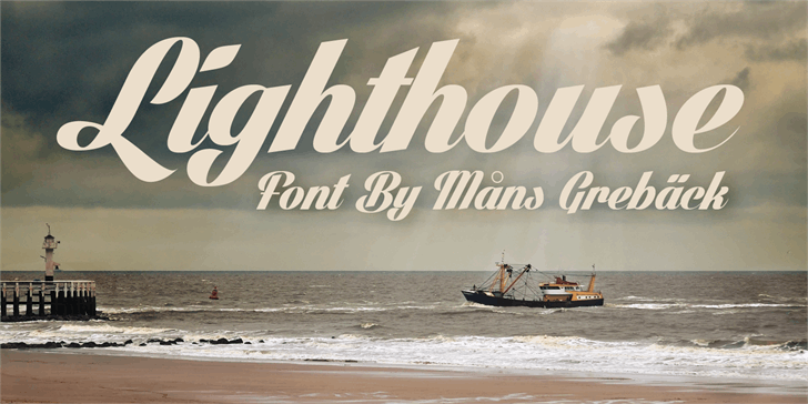Lighthouse Personal Use font by Måns Grebäck