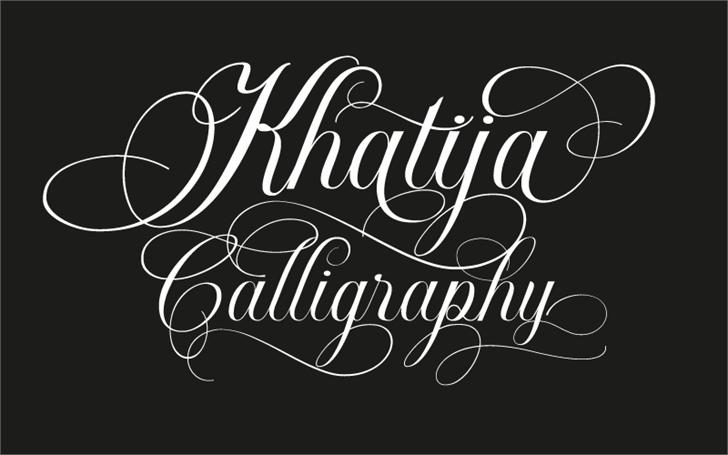 Khatija Calligraphy Font design