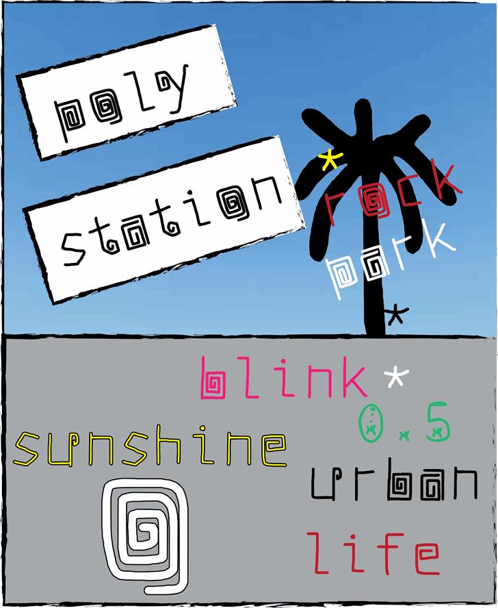 poly station Font cartoon screenshot