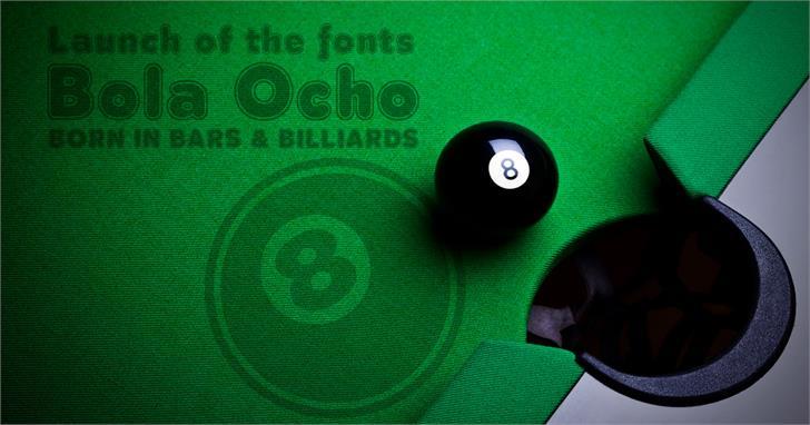 Bola Ocho Font screenshot design