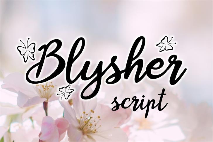 Blysher font by Eva Barabasne Olasz