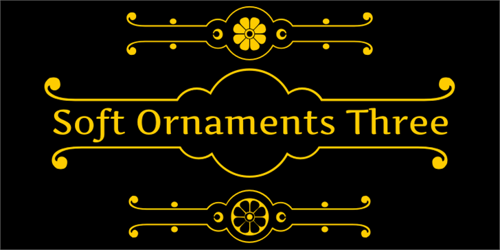 Soft Ornaments Three font by Intellecta Design