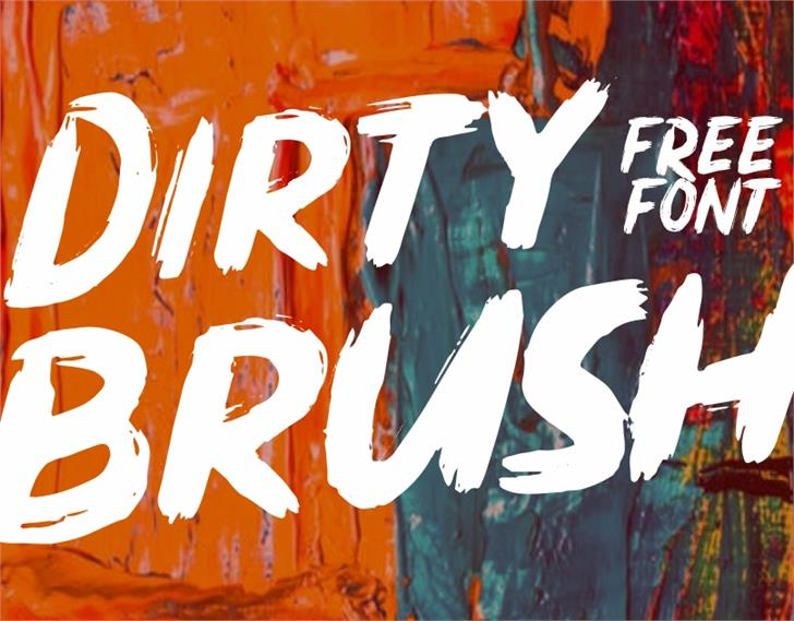Dirty Brush Font painting drawing