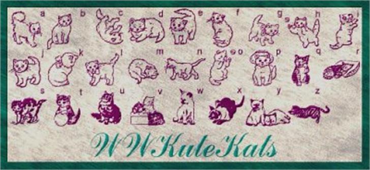 WWKuteKats Font handwriting drawing