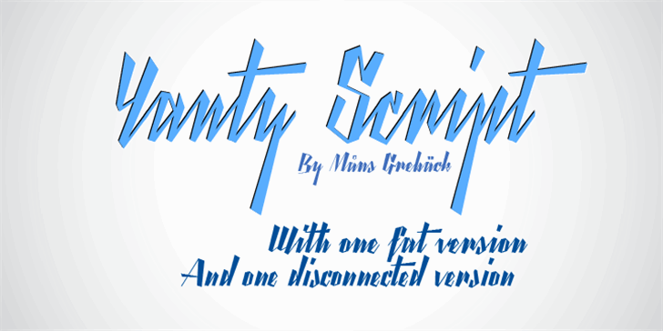 Yanty Script Demo Font design typography