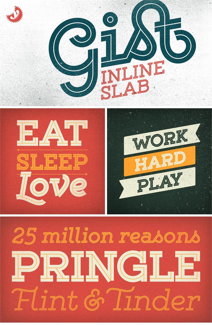 Gist Upright Extrabold Demo Font poster design