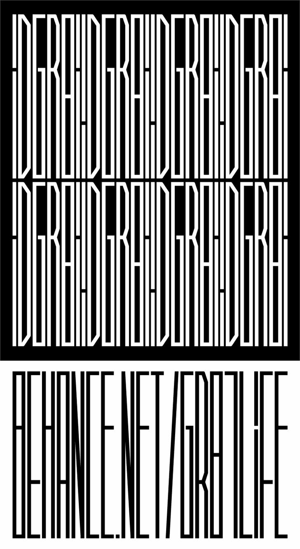 #iD Font black-and-white white