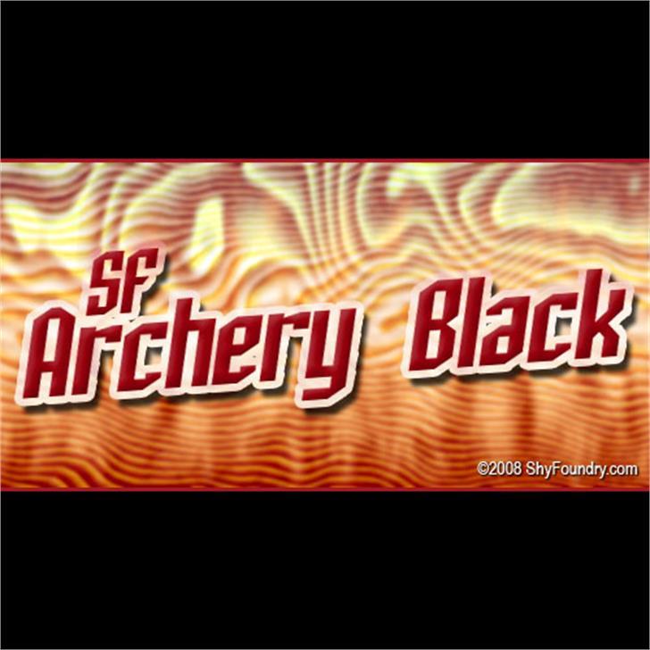 SF Archery Black Font screenshot billboard