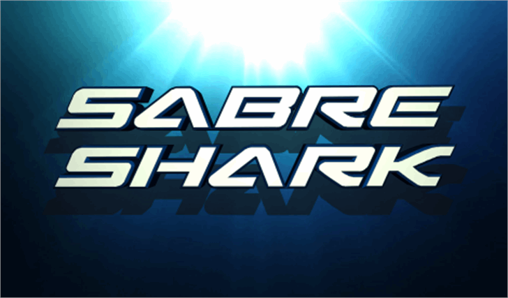 Sabre Shark Font screenshot logo