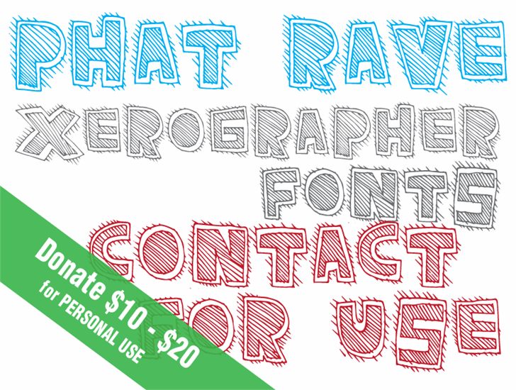 PhatRave font by Xerographer Fonts