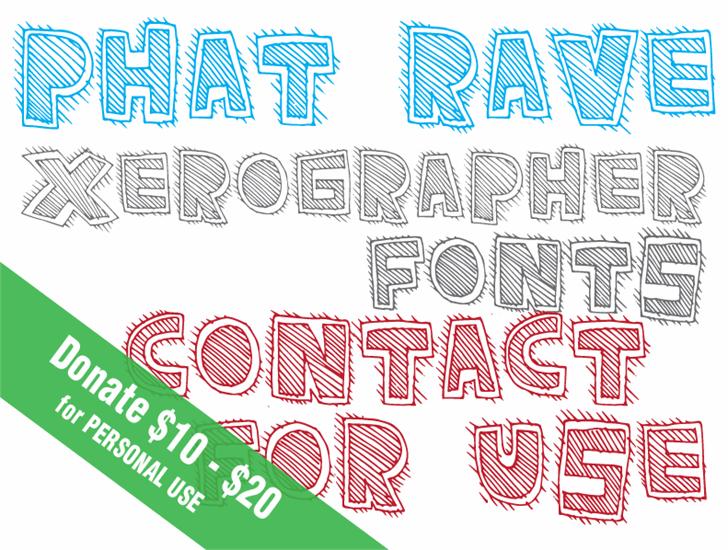 PhatRave Font design typography