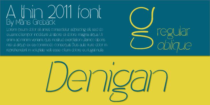 Denigan font by Måns Grebäck