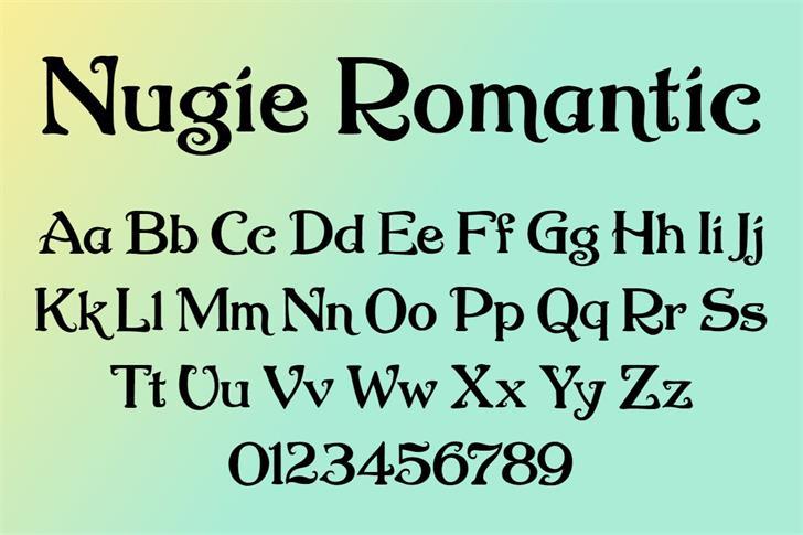 Nugie Romantic Font poster