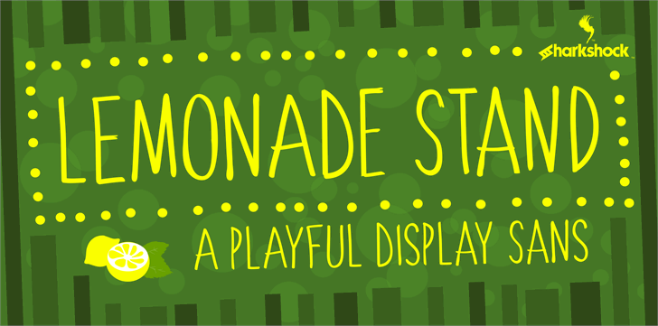 Lemonade Stand Font design screenshot