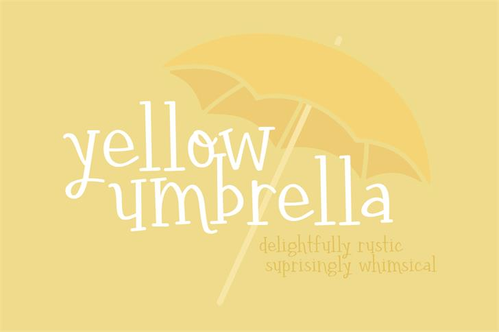 yellow umbrella Font design typography