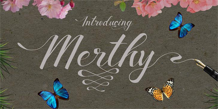 Merthy Font handwriting typography