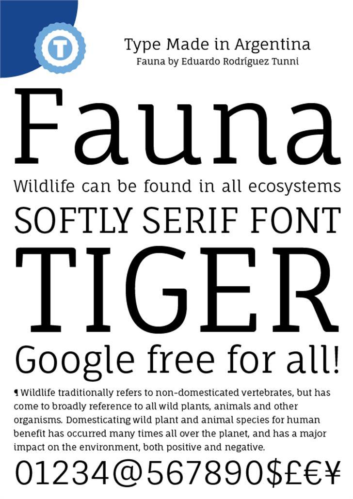 Fauna One Font screenshot typography