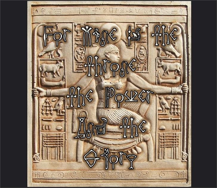 Throne Of Egypt Font drawing art