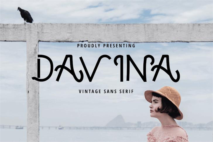 DAVINA - VINTAGE FONT poster