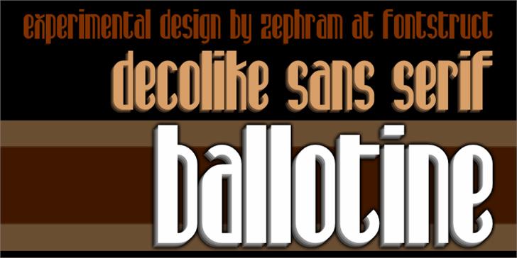 Ballotine Font poster screenshot