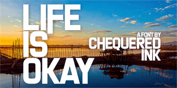 Life Is Okay font by Chequered Ink