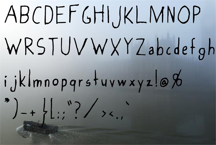 Foggy_Sky Font handwriting text