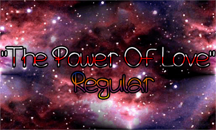 The Power Of Love Font outdoor object fireworks