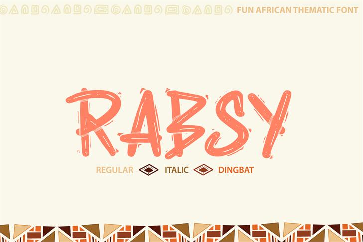 Rabsy Font design handwriting